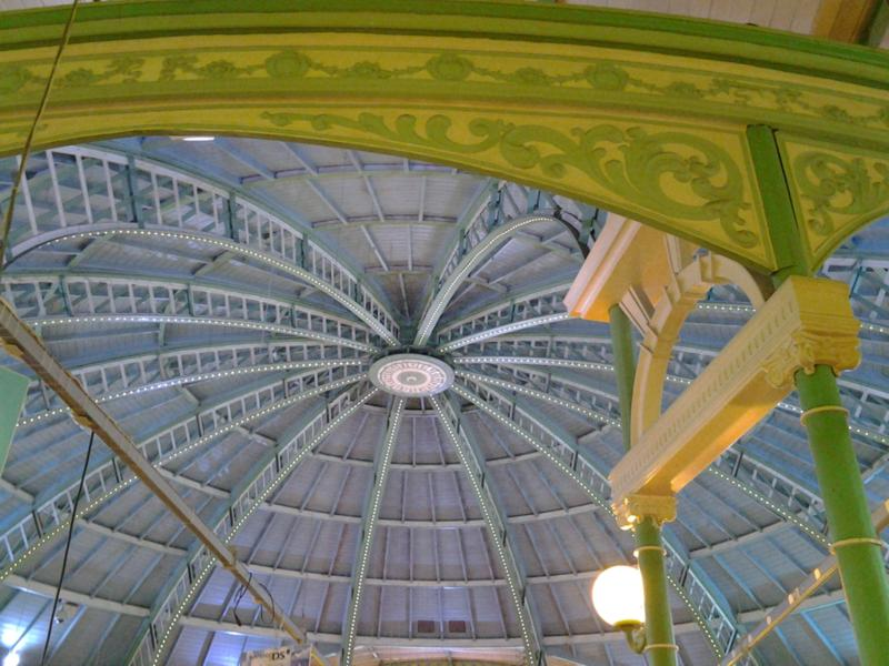 interior of Brighton Palace Pier - dome