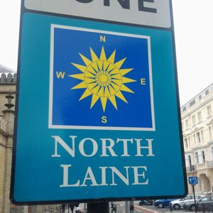 North Laine signpost